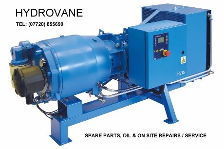 Hydrovane Compressor spare parts, hydrovane compressor servicing, hydrovane compressor oil