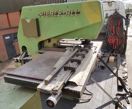 Used hole punching machines, used pierce-all punch press, used amada d750 punch, used strippit hole punch machine, cnc turret punch presses, used punch and die grinders, used sheet metal machinery, used fabrication machines, pierce all duplicators, used punch press tooling, service engineer, guillotine shear blades, new pressbrake tooling