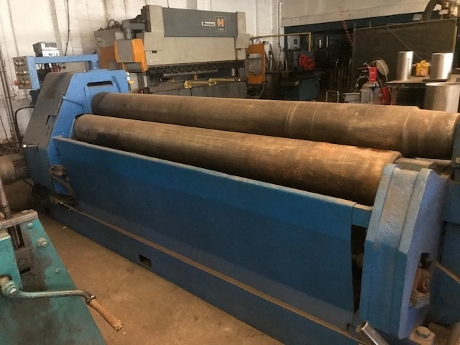 used bending rollers, used power rollers, sheet metal bending rolls, buxton 8mm sheet metal bending rollers, used fabrication machines, used sheet metal machinery