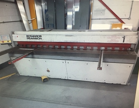 Edwards Pearson, Edwards Truecut, Edwards Shears, Used Guillotines, Used Shears, Used Sheet Metal Machinery, Used Fabrication Machinery, Edwards Spare Parts, Bystronic, Metalworking Machinery, Amada Machinery, Used Workshop Machinery