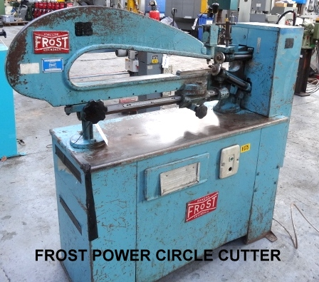 Used power circle cutters, used circle cutter, used sheet metal machinery, used ductwork machines, used fabrication machinery