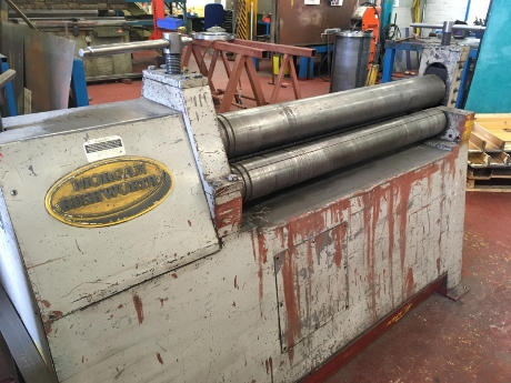 used sheet metal bending rollers, used power rollers, used plate rolls, morgan rushworth pbr power rollers, used sheet metal machinery, used pyramid rollers, used fabrication machinery, morgan 6mm rollers, new metalworking machinery, new plate rolls