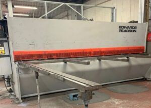 Eedwards pearson guillotines, edwards pearson shears, 10mm used guillotines, new sheet metal machinery, new guillotines, edwards pearson spare parts